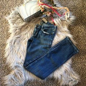 Abercrombie Kids Maddy Stretch Straight Cut Jeans.